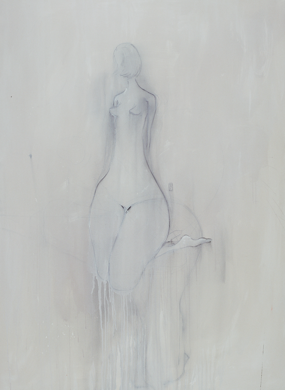 SOLD 2007 'A time of innocence'. Gesso, Pigment & Charcoal on canvas.