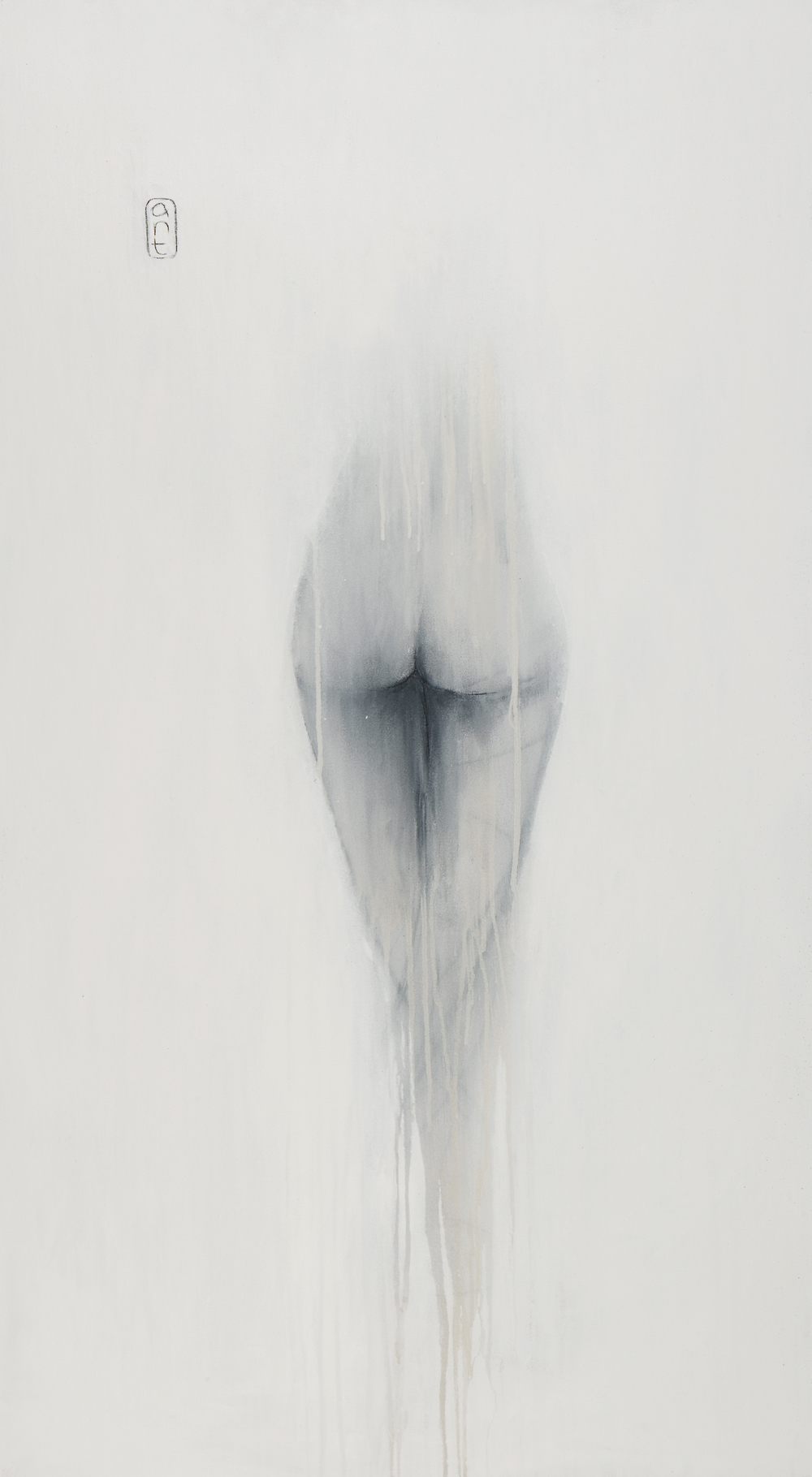 SOLD 2008 Stepping into white Arcylic on canvas 1350 x 750mm