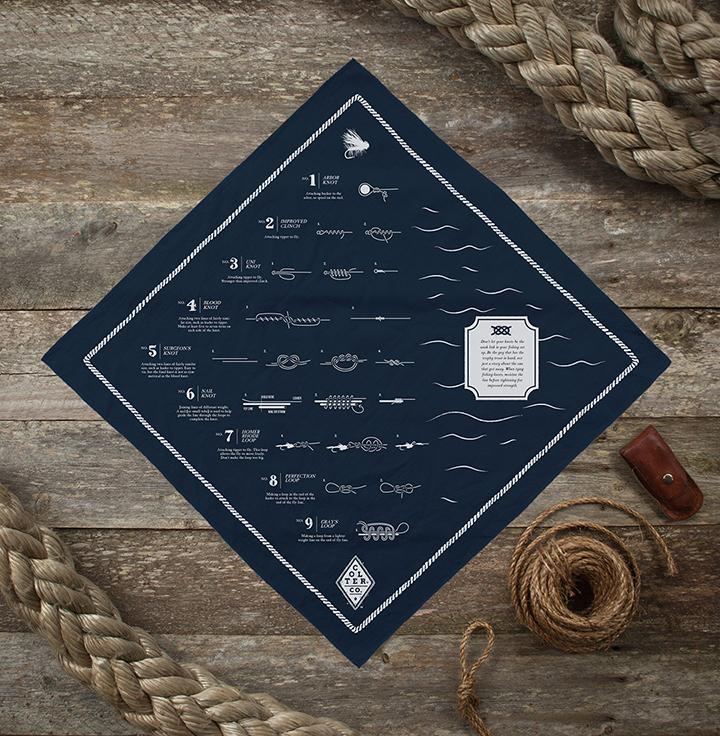 colter co fly fishing knots bandana