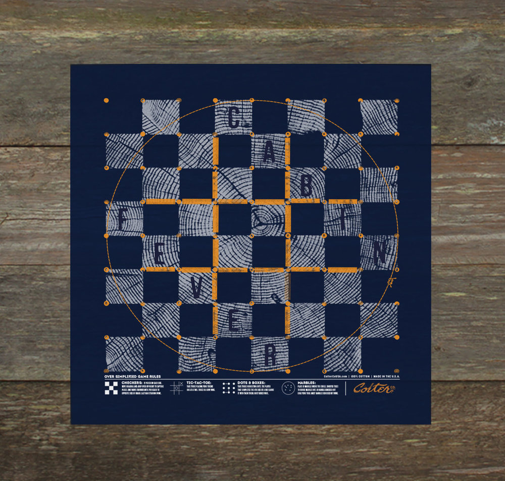 cabin fever board game bandana