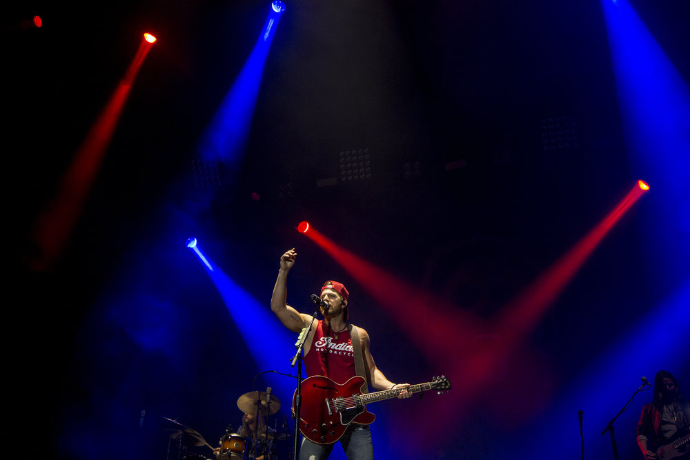 Kip Moore performs during Country Thunder in Florence, Ariz.