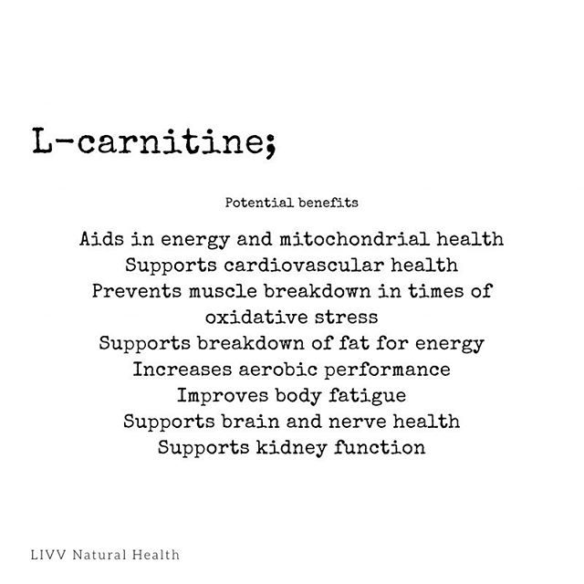 Are you getting the right amino acids in your diet? At times we need to increase certain amino acids to help our body rebuild. L-carnitine is useful when you are trying to improve athletic performance and increases energy production which is useful for brain health.  #livvnatural #livvalifeworthliving