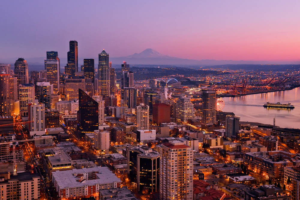 Seattle as seen from the top of the Space Needle