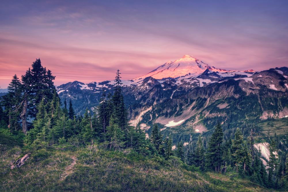 Mt Baker, at sunrise