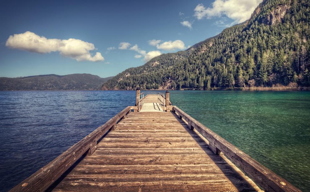 Crescent Lake, on Washington State's Olympic Peninsula