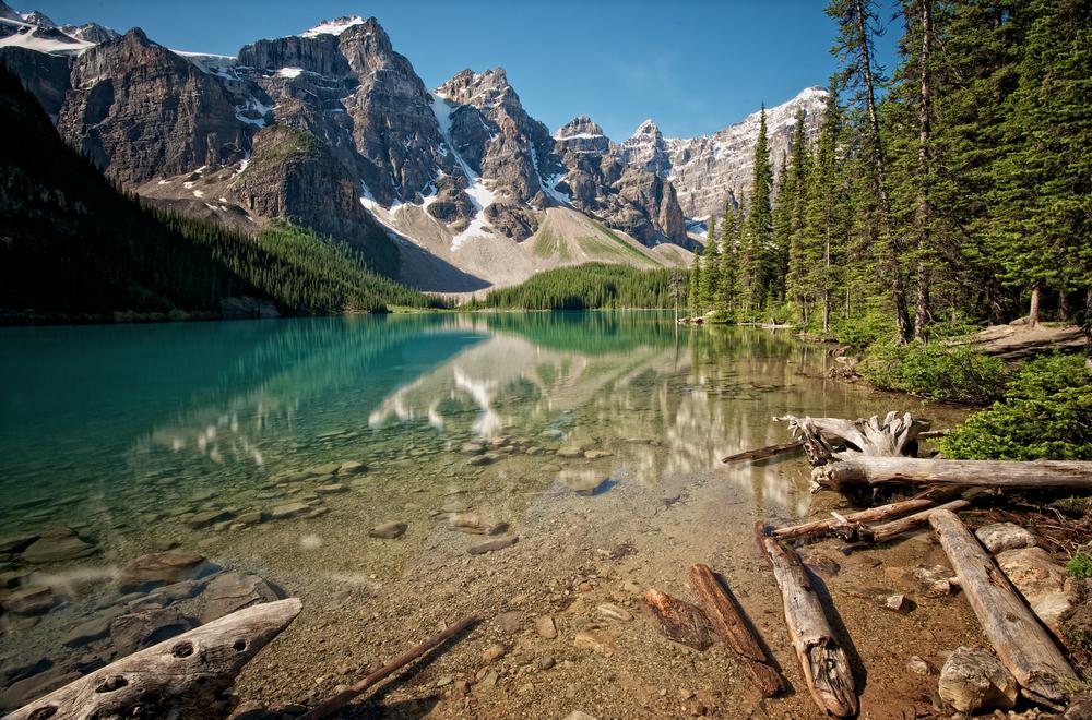 Moraine Lake outside of Banff, Alberta, Canada