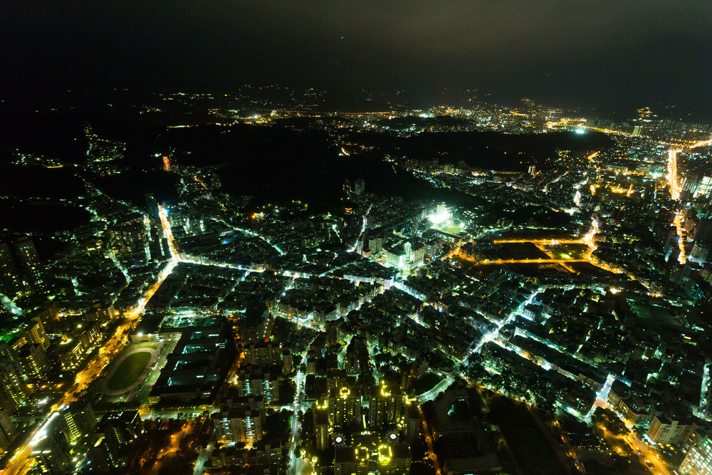 Night view from Taipei 101
