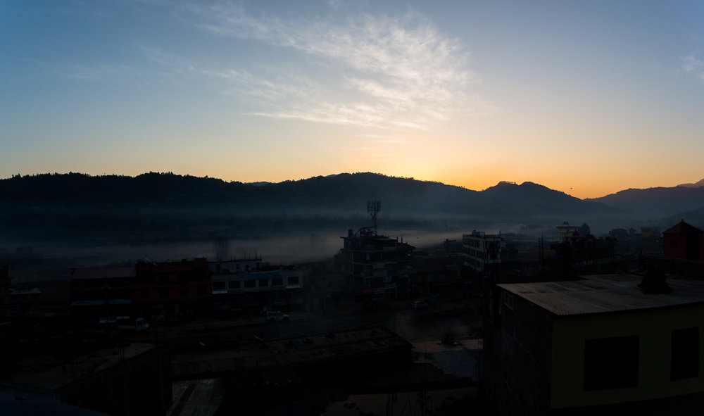 The rooftop gave us splendid views for sunrises, Himalayas and stars!