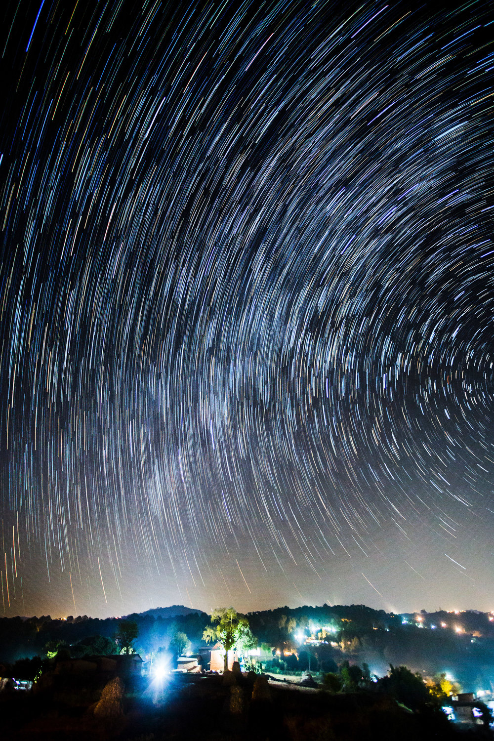 I guess it isn't the best idea to include Milky Way into star trails