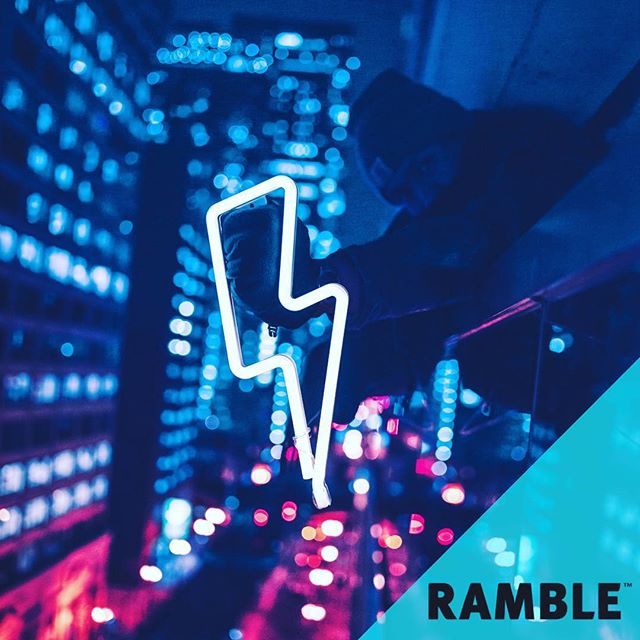 Feeling recharged for the week? #Ramble #BestBagsEver #Recharge #Lightning #Thunder #MondayMotivation #BigCity #Monday #Blue #Pink #BigCityLife #GoodVibes #DoYou #RambleYourWay