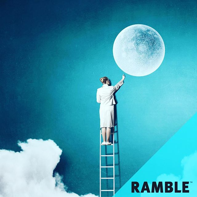 Aim for the stars. Land on the clouds.  #Ramble #BestBagsEver #Moon #Clouds #Stars #Dreamer #Aqua #Dreamland #RambleYourWay