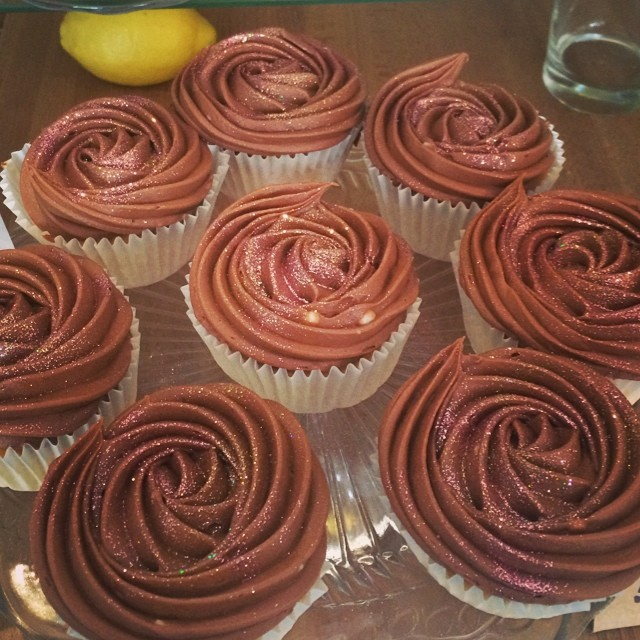 #cupcakes #glitter #icing #fresh #chocolate #cakes #kentishtown #london #delicious #coffee