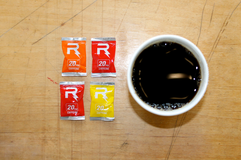 Convenient & Customizable   4 chews = 1 cup of coffee   Learn More