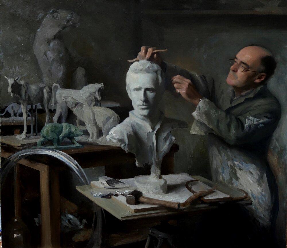 Dad Sculpting Me