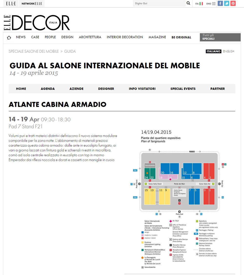 Guida Salone Elle Decor . Italia