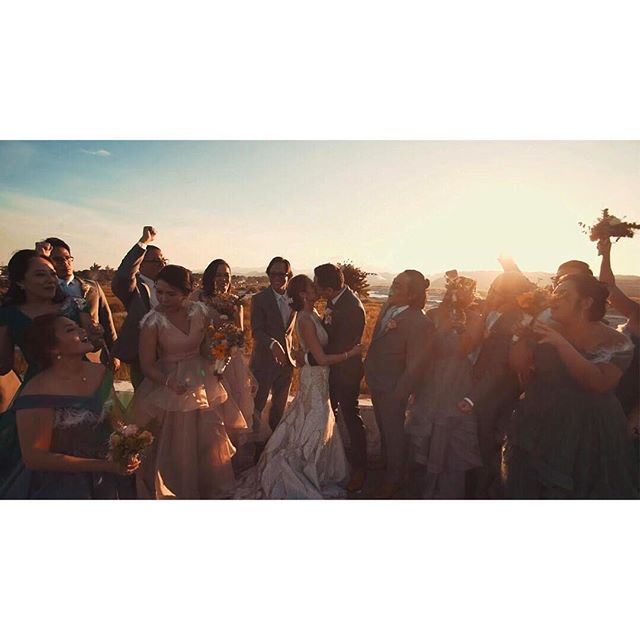 sharing the first sunset as newlyweds, surrounded by the best people in your lives. Remember this time! - - -  #wedding #weddingday #weddingfilm #loveauthentic #realwedding #justmarried #framegrab #newlywed #pampangawedding #manila #manilaweddings #itheewed #itheewedbyfuguwi