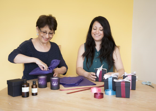 Jenny Hogg and Lina Hogg from Arya Candles