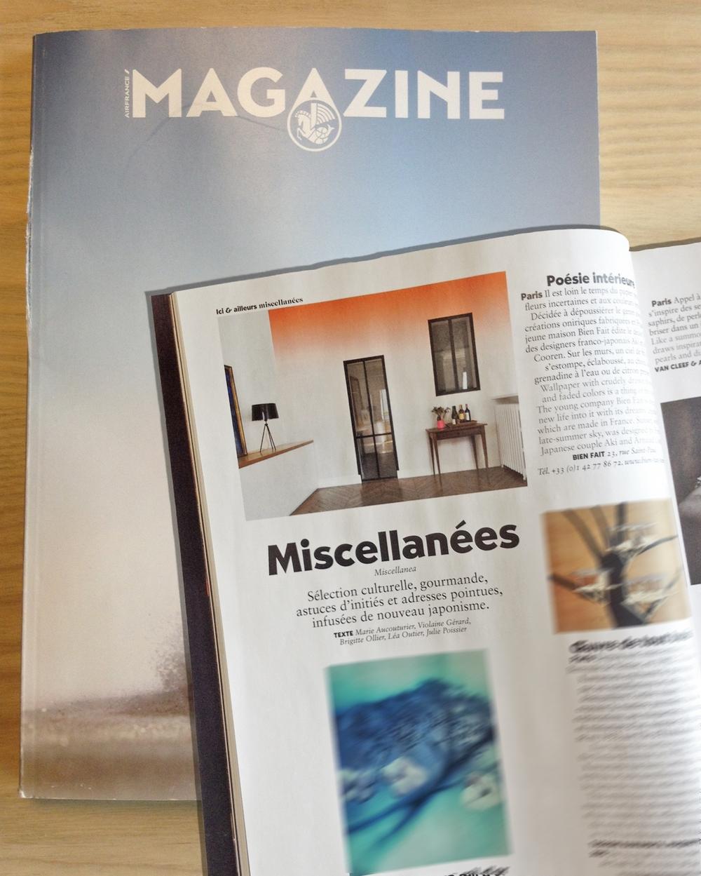 Air France Magazine / France / 09.2015