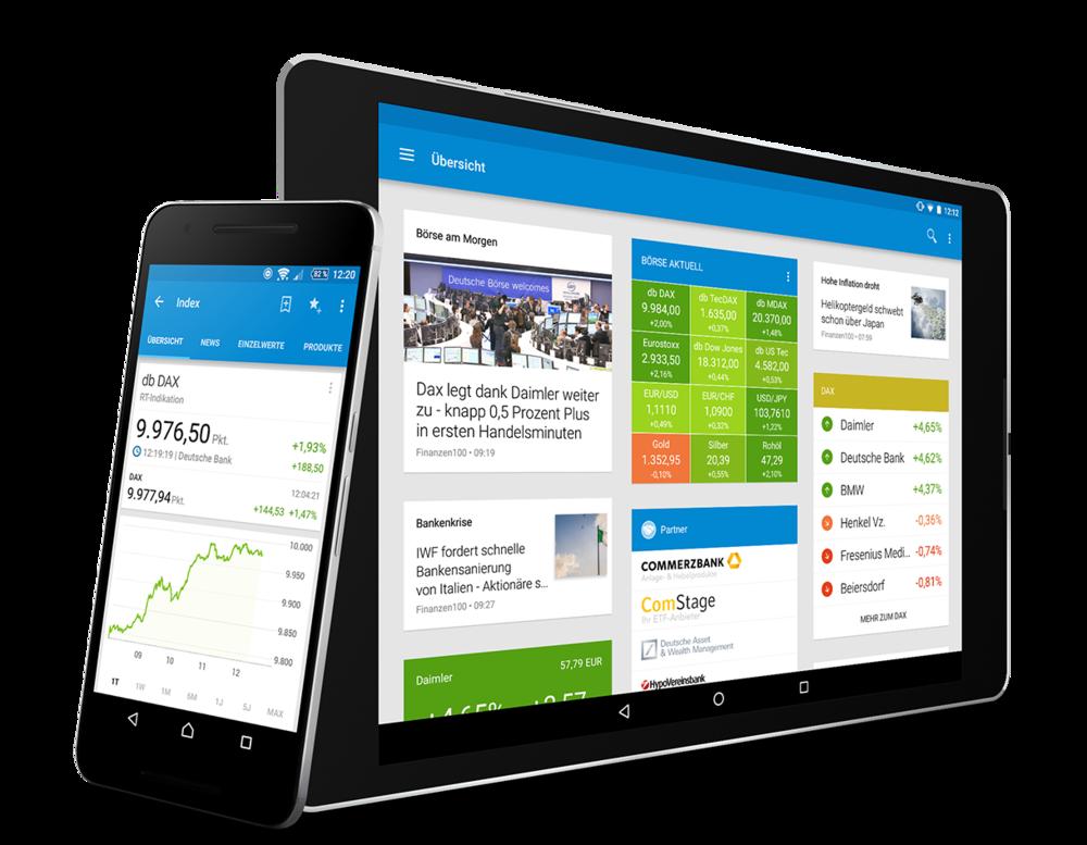 - Eine extrem schnelle Suche nach Wertpapieren, Devisen und Rohstoffen macht diese App unverzichtbar für alle Börseninteressierten.Legen Sie eigene Portfolios und Watchlisten an und greifen Sie von überall aus zu - ob App oder Webseite - Sie wissen jederzeit, wie sich Ihre Wertpapiere entwickeln.