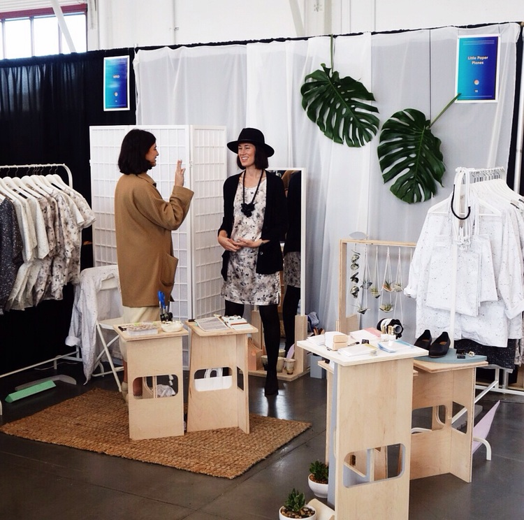 Little Paper Planes Booth at West Coast Craft