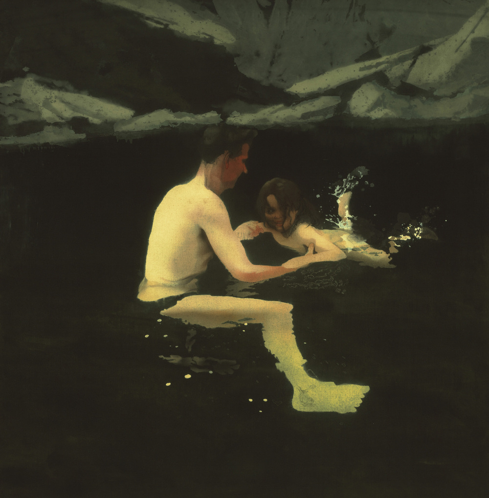 Michael Andrews, Melanie and Me Swimming, 1978-9