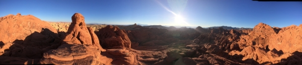 Valley of Fire Panoramic Shot. See More At www.femalehiker.com