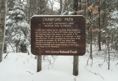Crawford Path Trail Sign. More at www.femalehiker.com