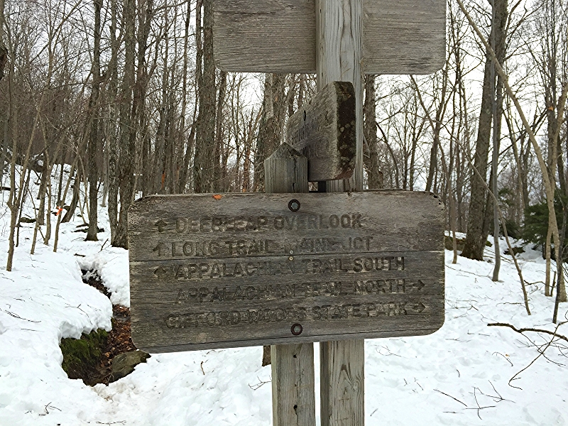 Junction for the Long Trail and Appalachian Trail.