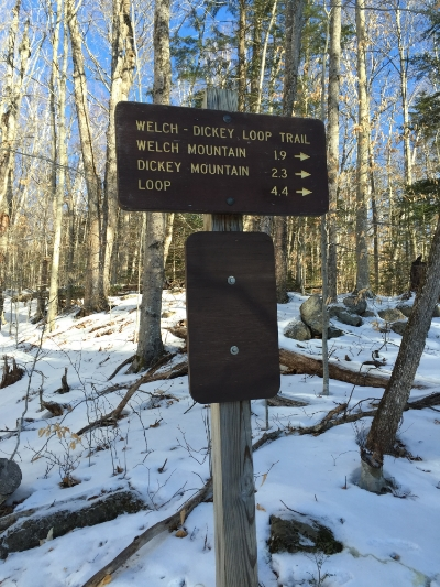 Sign at the trailhead of the Welch-Dickey Loop