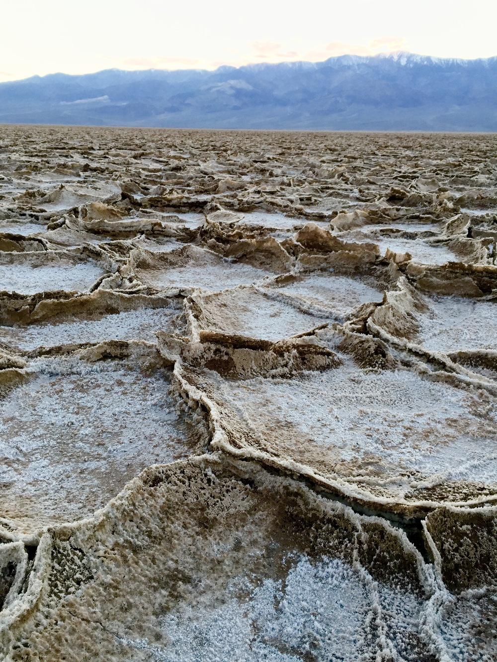 Another close-up of the Badwater Salt Flats in Death Valley.