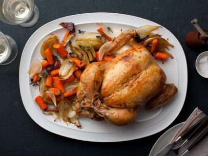 Adapted and modified Ina Garten's roast chicken recipe. It's a simple and delicious dish!