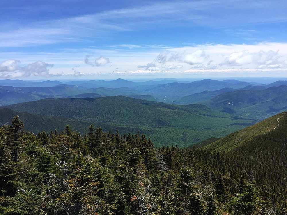 Photo taken from the fire tower at the summit of Mount Carrigain in the White Mountains, New Hampshire.