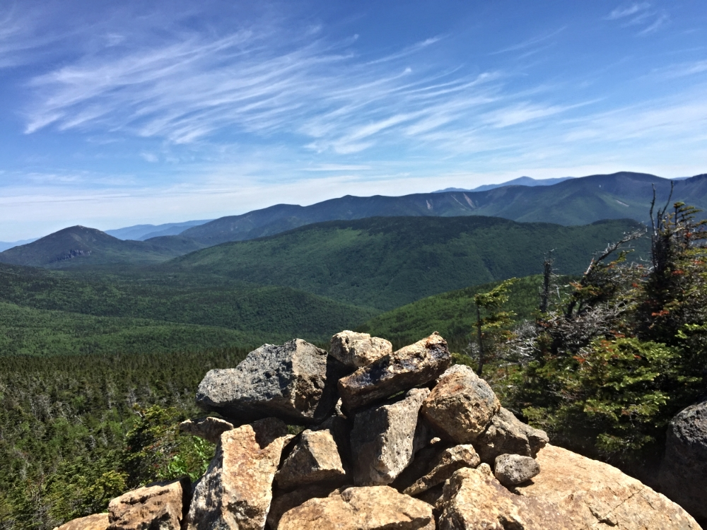 Heading up to the summit of Mount Liberty at Franconia Ridge in the White Mountains, New Hampshire!