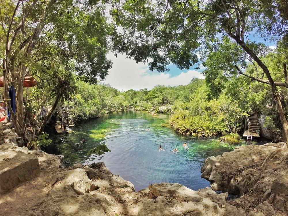 Cenote Jardin del Eden in Mexico's Yucatan Peninsula.