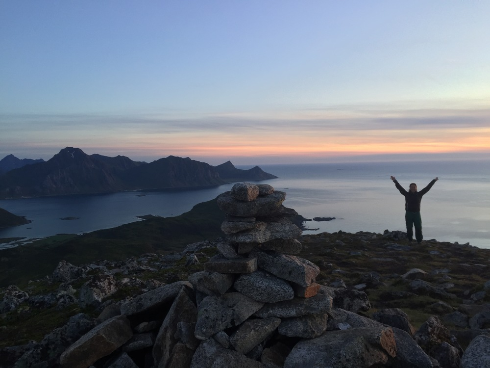 Great sunset in the Lofoten Islands!