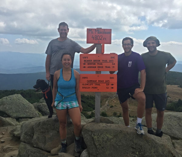 Up At The Summit Of Mount Moosilauke In The White Mountains New Hampshire