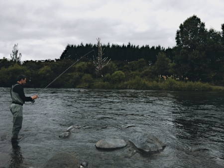 Fly-fishing in Taupo