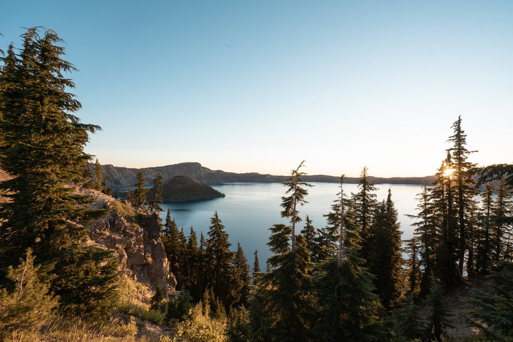 Sunrise at Crater Lake National Park