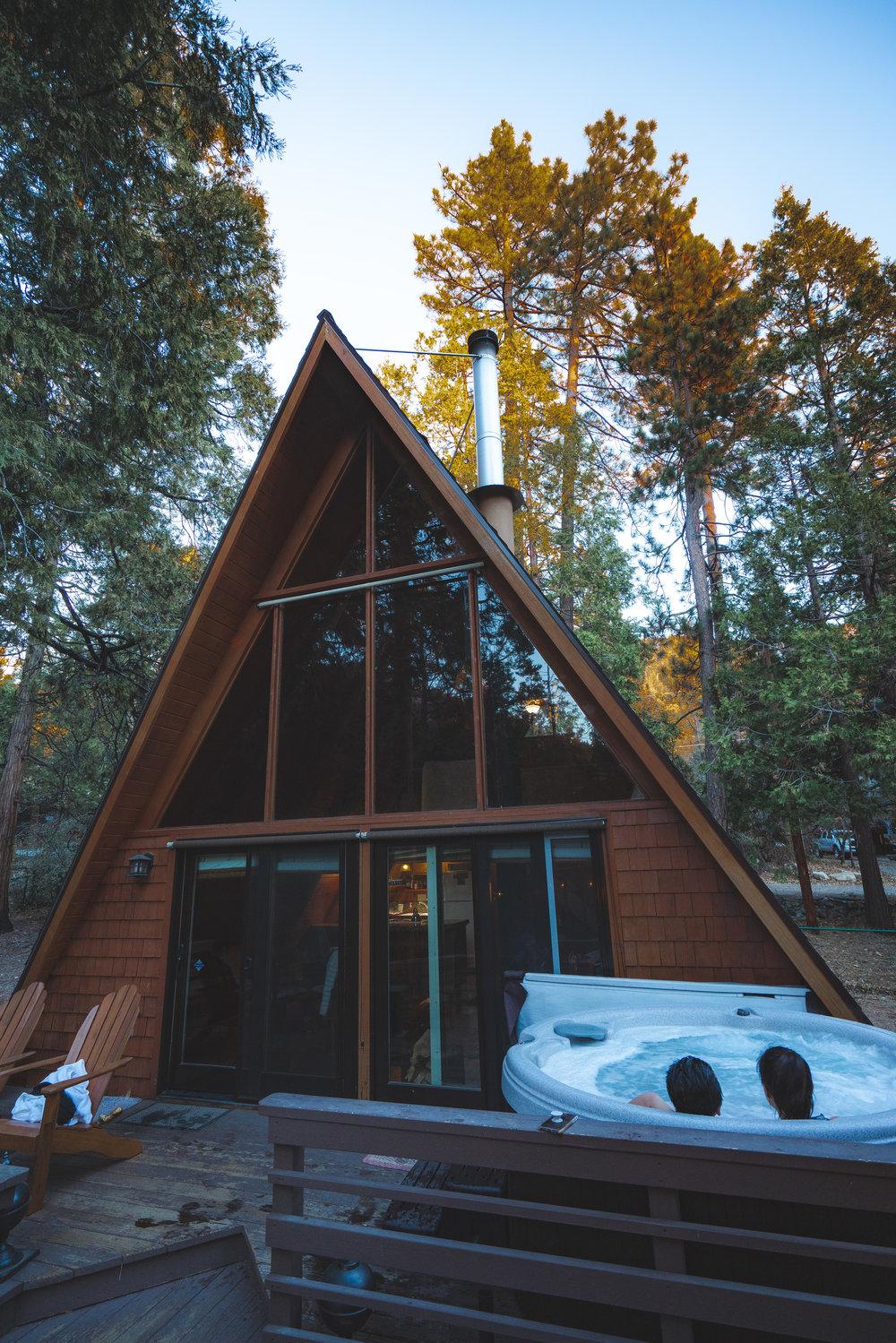 A-frame cabin in Idyllwild