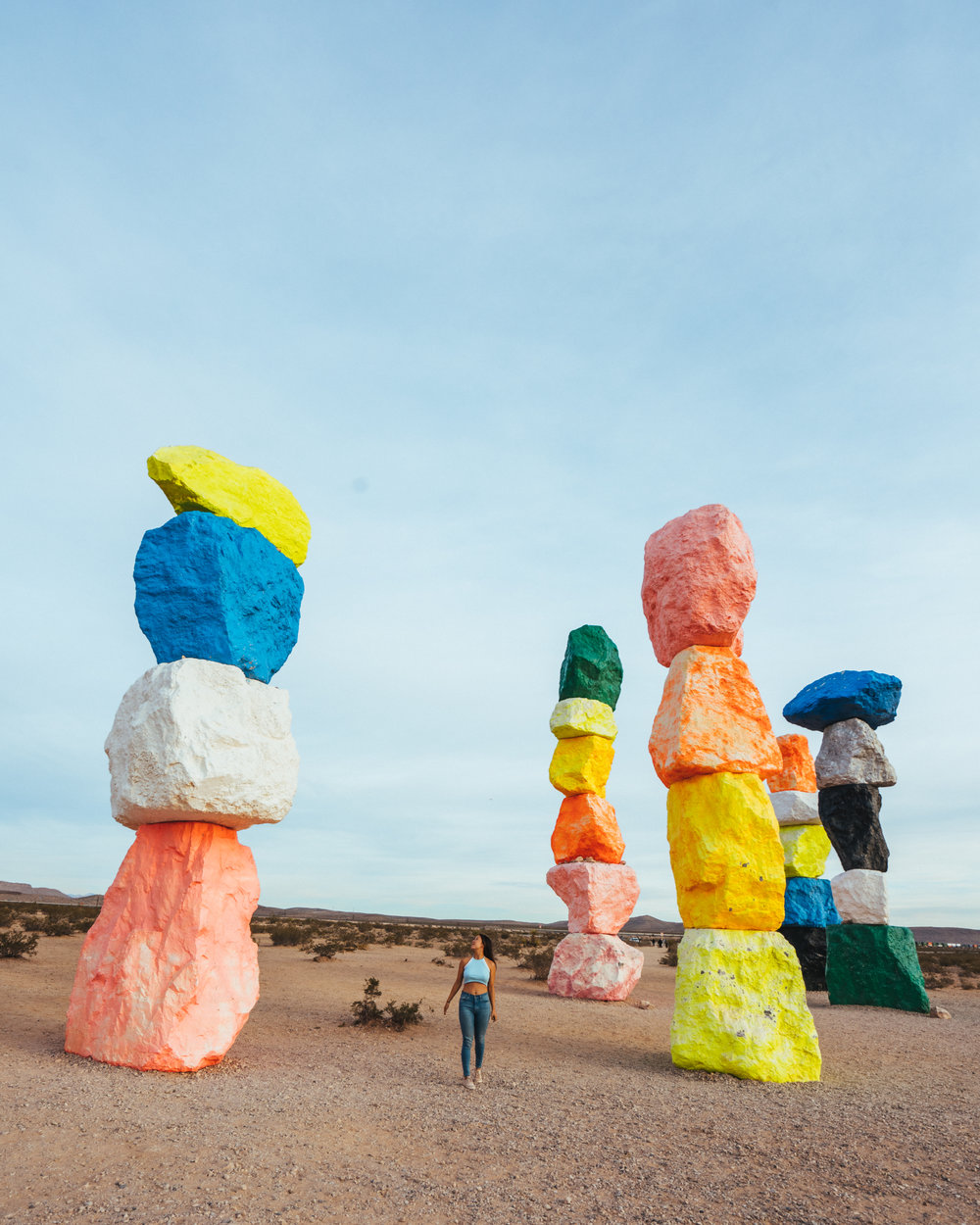 Visit places like the Seven Magic Mountains with an RV!