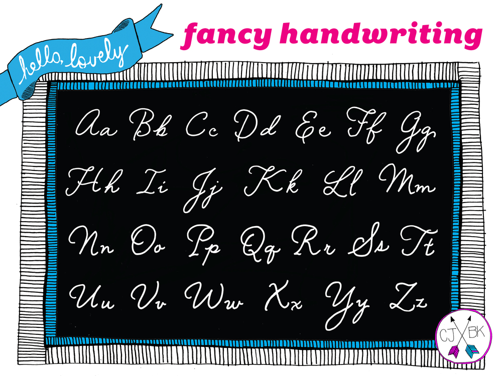 fancy handwriting