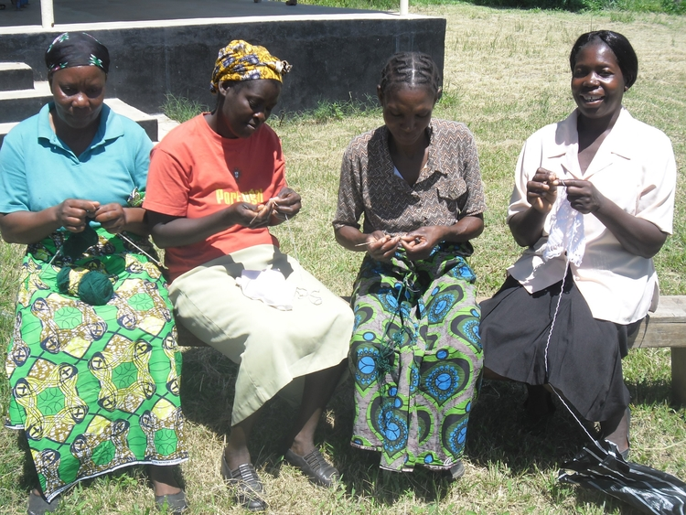 Local women knitting