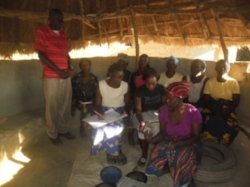 James Milunga with Makwati Women's Group