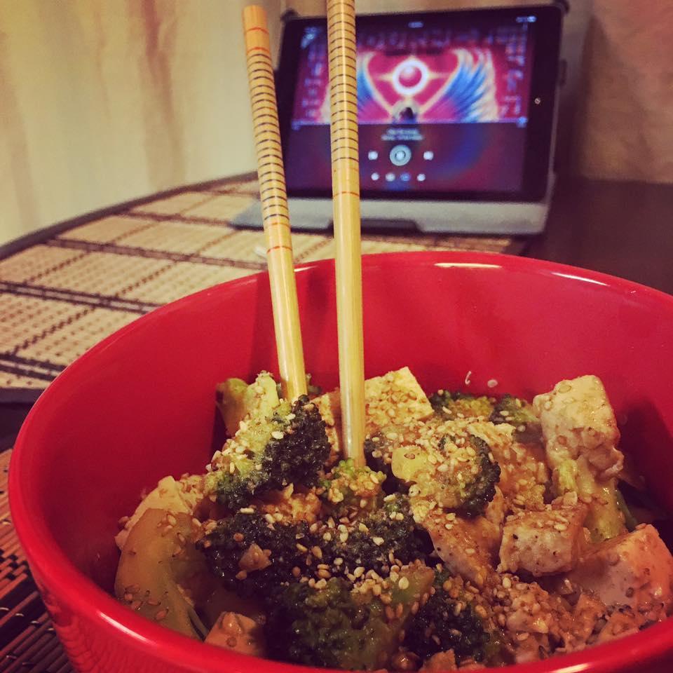 sesame peanut tofu