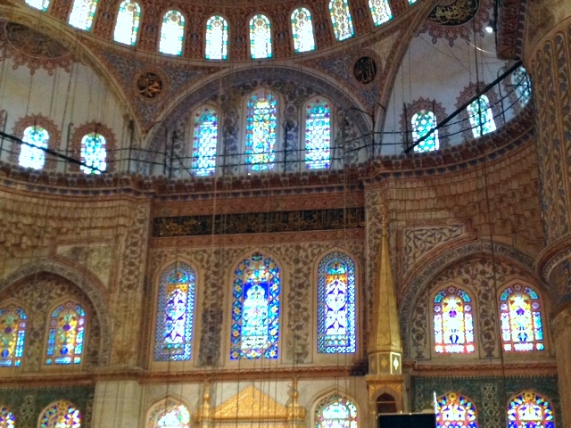Worship area of Blue Mosque