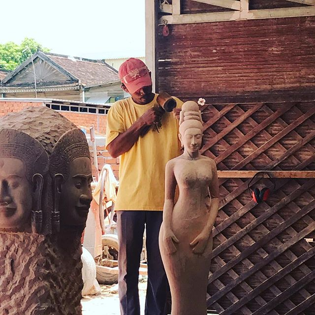 Cambodia is known for handcarving some of these wonders.  Hello Angkor Wat!. We explore this work in the Cambodia travel box supporting local artisans.  Join us on the journey! . . . . . #travel #cambodia #artisan #sculpture #buddha #zen #empower #subscriptionbox #art #beautifulplaces #travelguide #travelblogger #globalcitizen #septemberbox #september #throwbackthursday #beautifulthings #passion #passionproject #socialbusiness #entrepreneur #art #wow #handmade #handicraft #supportlocal