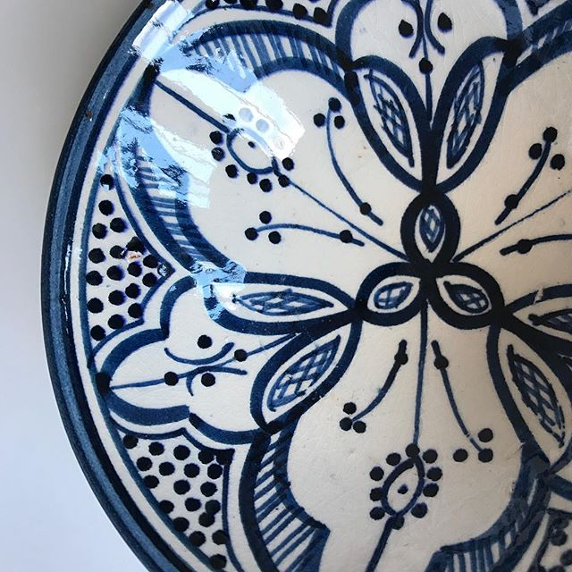 Reveal 1 of the October box - all from Morocco supporting local artisans!  Handmade ceramics!  A bowl perfect for entertaining!  A range of colors intricately designed!