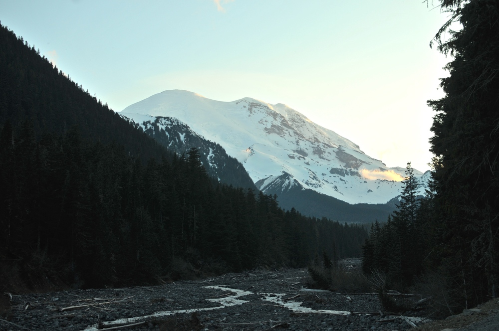 Rainier's East side from White River campground