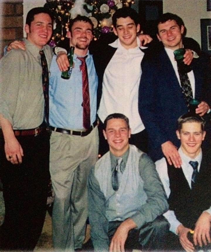 Winter formal - Left to right - Josh Docherty (12/27/79 - 5/19/00) Tim Kestell, Casey Johnson, Nick Pontarolo, Ryan Ricard, Jeff Parker (8/24/79 - 1/2/15)