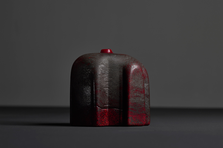 Profondo Rosso, 2015  Murano Glass and Iron, 18.2 H x 15.4 W x 15.4 D cm